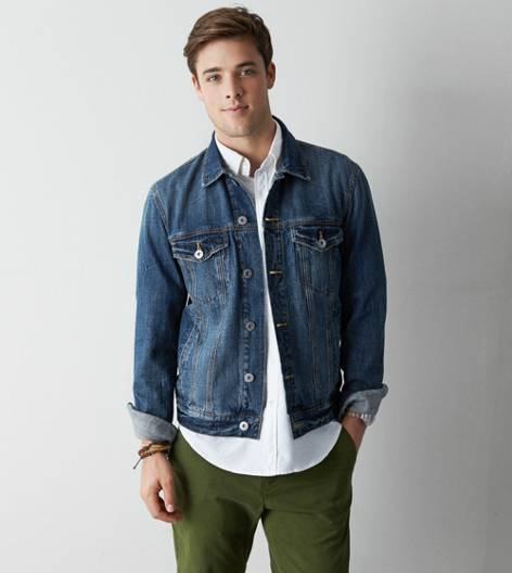 Blue AEO Denim Jacket