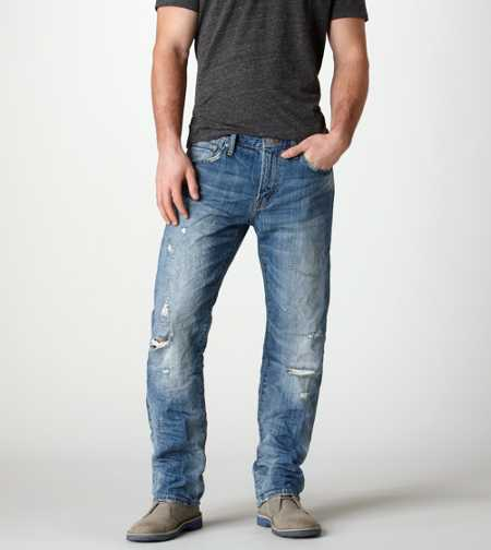 Original Straight Jean - Medium Oakwood Destroy