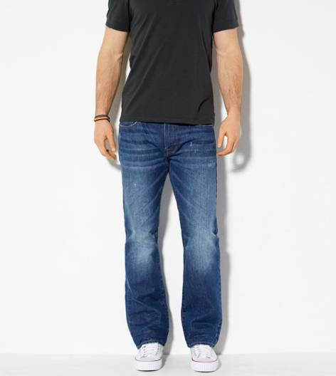 Medium True Blue Original Straight Jean