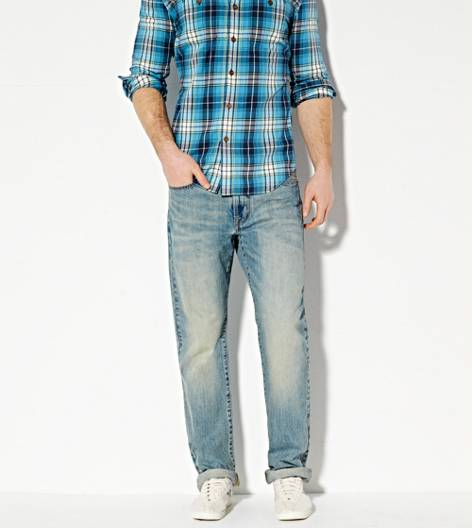 Light Clean Indigo Relaxed Straight Jean