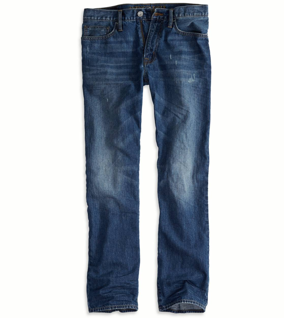 Medium True Blue Relaxed Straight Jean