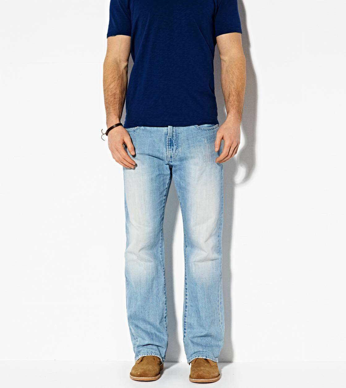 Light Faded Vintage Classic Bootcut Jean