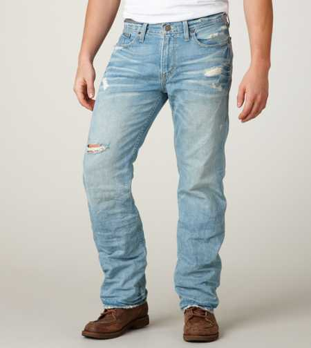 Low Rise Boot Jean - Light Crumple Destroy Wash