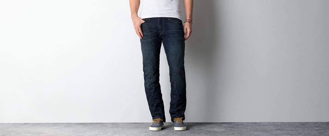 Dark Tinted Slim Straight Jean