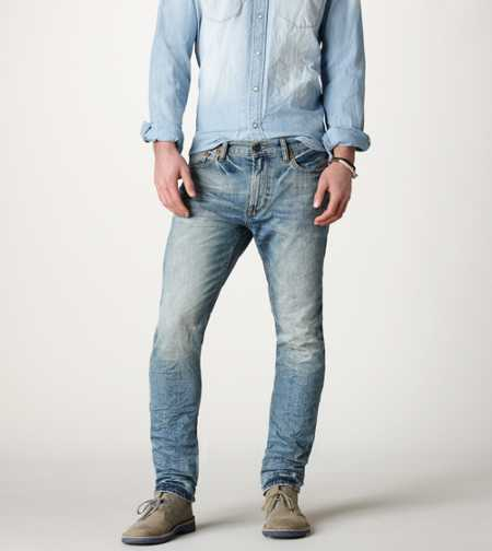 Slim Straight Jean - Light Worn In