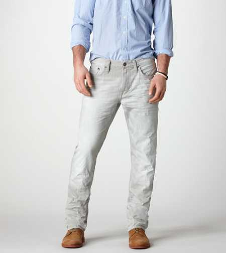 Slim Straight Jean - Light Faded Grey