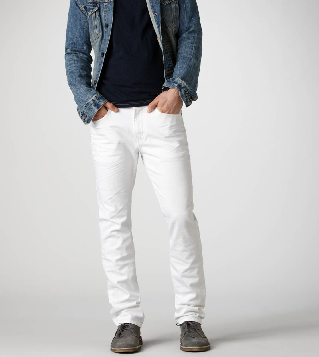 Fresh White Slim Straight Jean