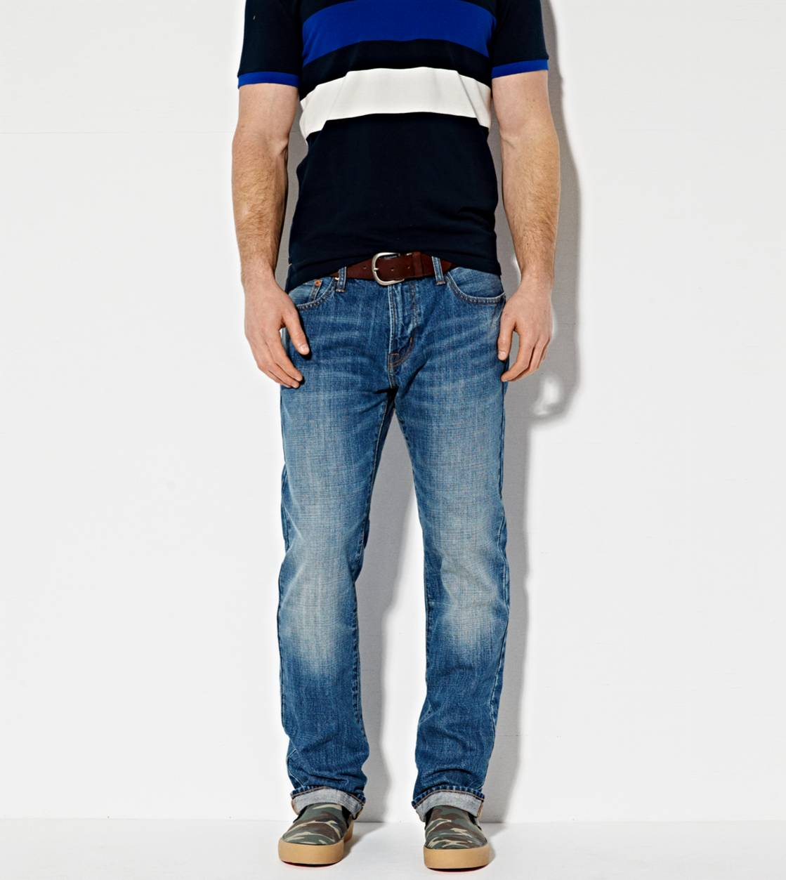Medium Indigo Slim Straight Jean