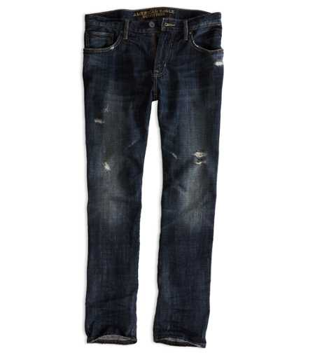 Slim Straight Jean - Dark Destroy