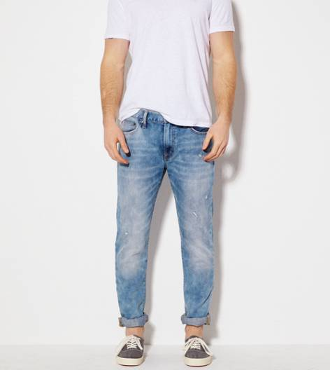 Light Bleach Sponge Slim Jean