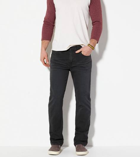 Coal Grey Slim Straight Jean