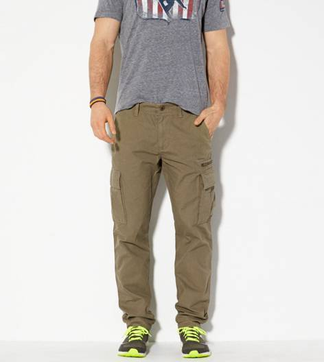 Shooting Olive AE Slim Straight Cargo Khaki