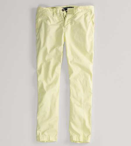 AE Slim Straight Khaki