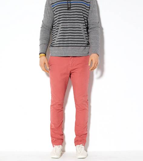 Lava Red AEO Slim Straight Khaki