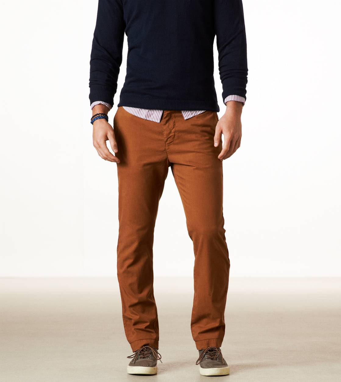 Beer Brown AE Slim Straight Khaki