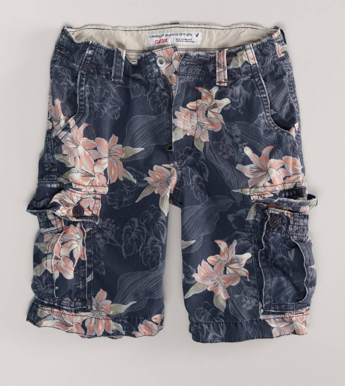 Black Lily AEO77 Printed Cargo Short