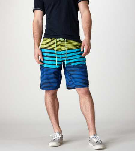 AE Geometric Stripe Board Short - Take 40% Off