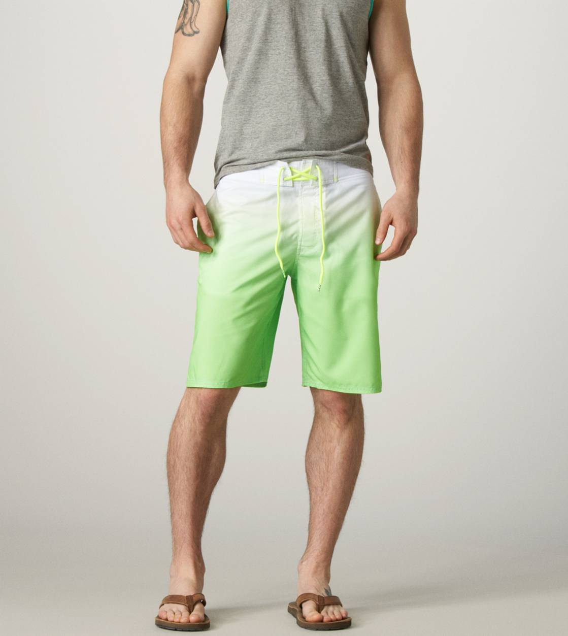 Neon Lemon Lime AE Ombre Board Short