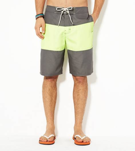 Grey AEO Colorblock Board Short