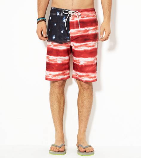 Red AEO Flag Board Short