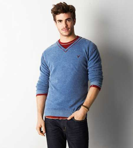 AEO Pigment Dyed Wool V-Neck Sweater - Buy One Get One 50% Off