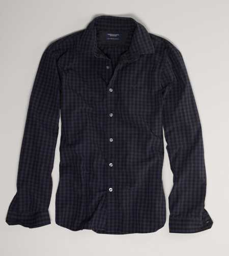 AE Slim Fit Check Button-Down - Slim Fit