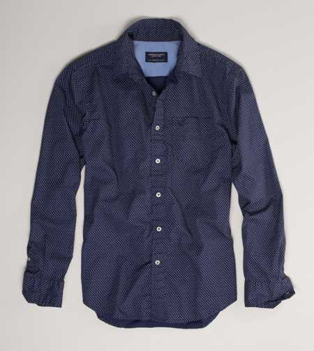 AE Patterned Button-Down - Athletic Fit