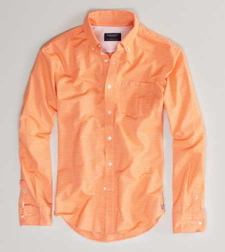 AE Striped Oxford Button-Down - Athletic Fit