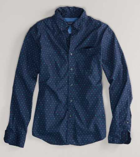 AE Printed Button-Down - Athletic Fit