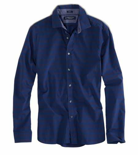 AE Slim Fit Stripe Button-Down - Slim Fit