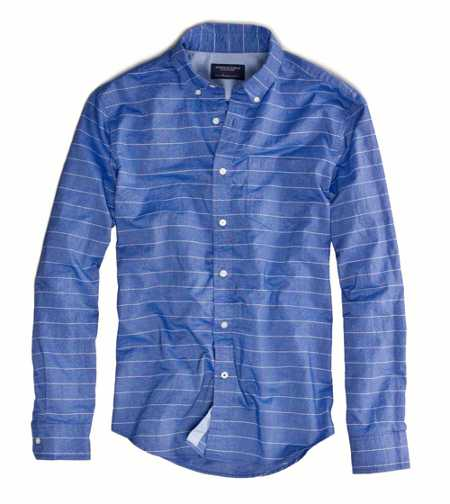AE Striped Button-Down - Athletic Fit