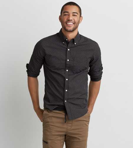 AEO Pattern Button Down Shirt
