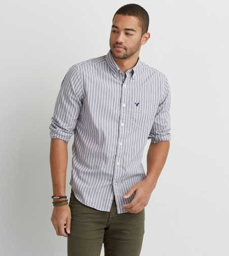AEO Striped Button Down Shirt  - Buy One Get One 50% Off
