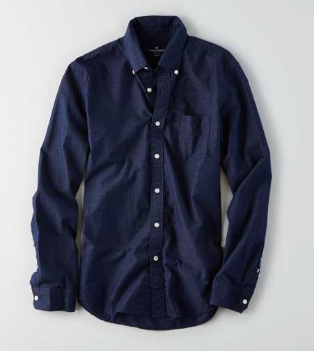 AEO Slim Micro Stripe Shirt