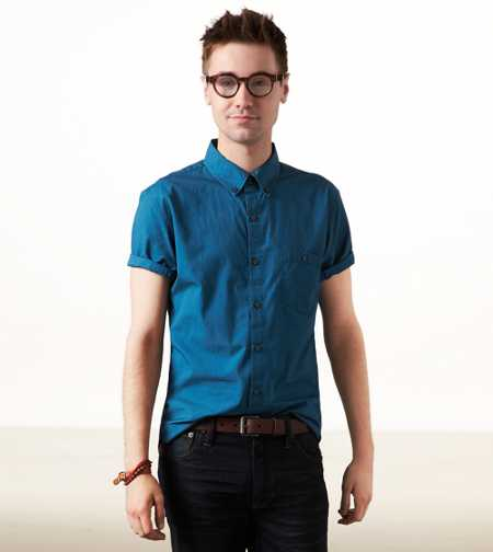 AE Short Sleeve Button Down - Vintage Fit
