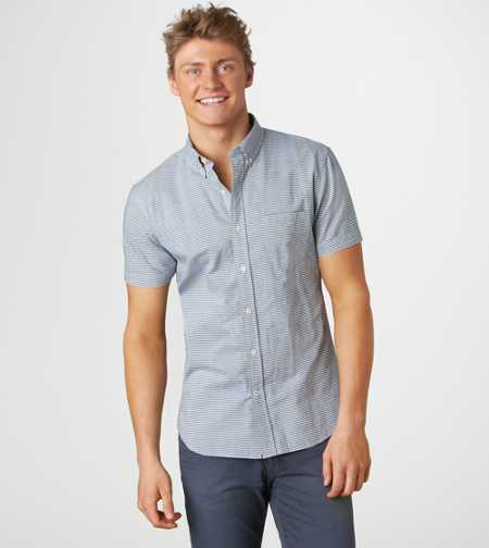 AE Striped Short Sleeve Button-Down - Vintage Fit