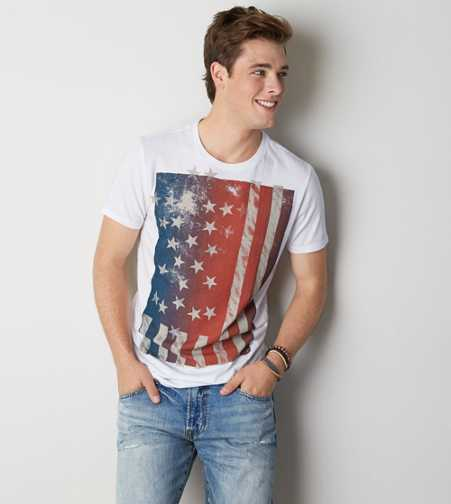 AEO Flag Graphic T-Shirt - Buy One Get One 50% Off