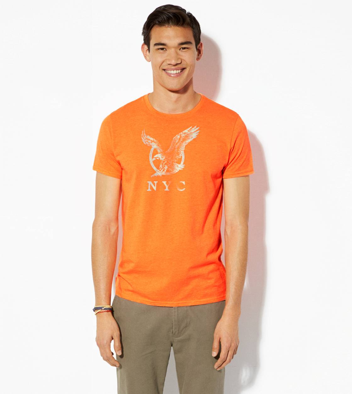 Safe Orange AE NYC Graphic T-Shirt