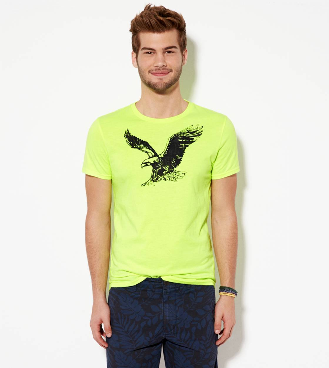 Deep Neon Yellow AE Signature Graphic T-Shirt