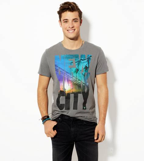 Grey Road AEO NYC Graphic T-Shirt