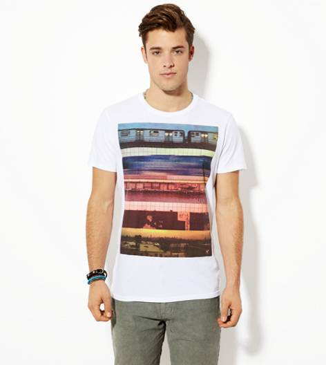 White  AEO Photo Real T-Shirt
