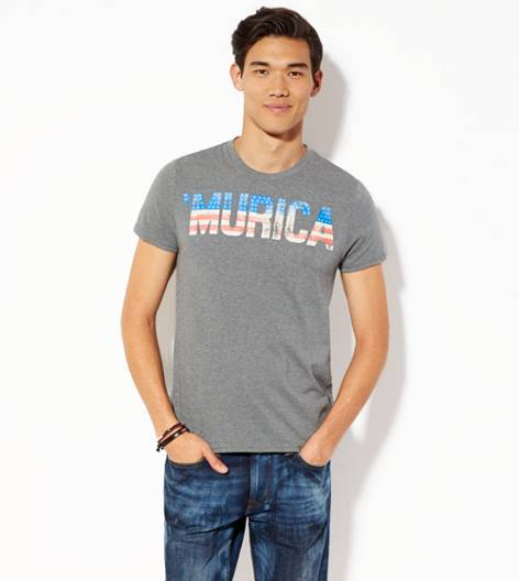City Grey AEO Murica Graphic T-Shirt