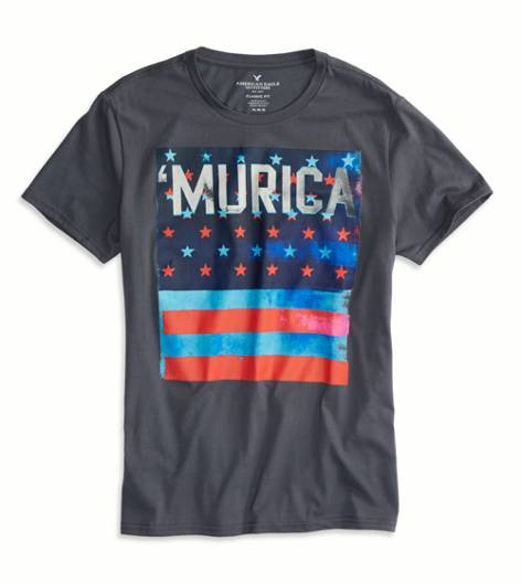 Grey Branch AEO 'Murica Graphic T-Shirt