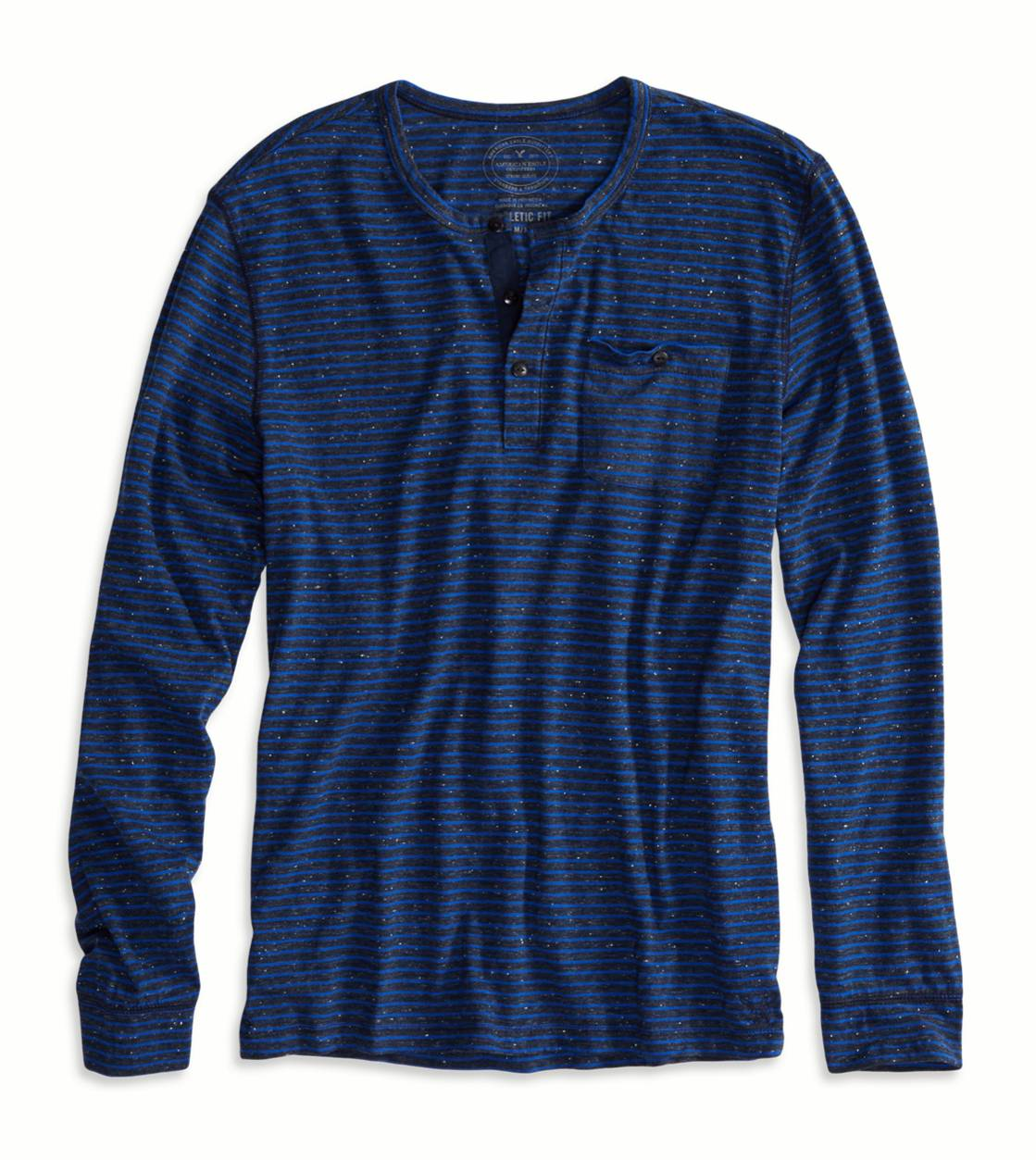 Inkwell AE Striped Long Sleeve Henley