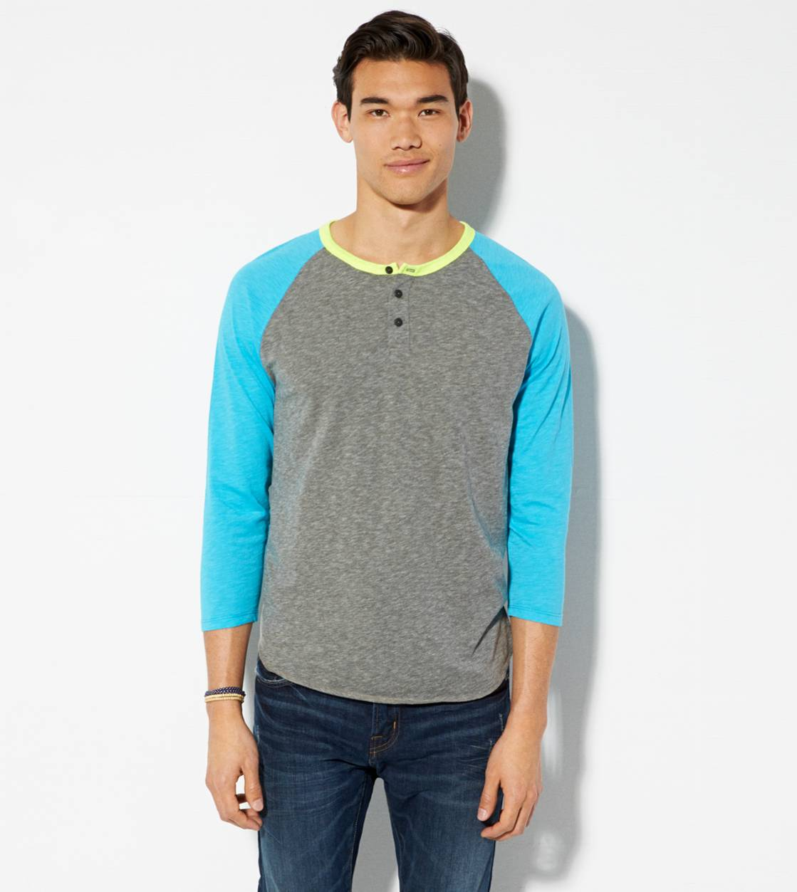 City Grey AE Baseball Henley