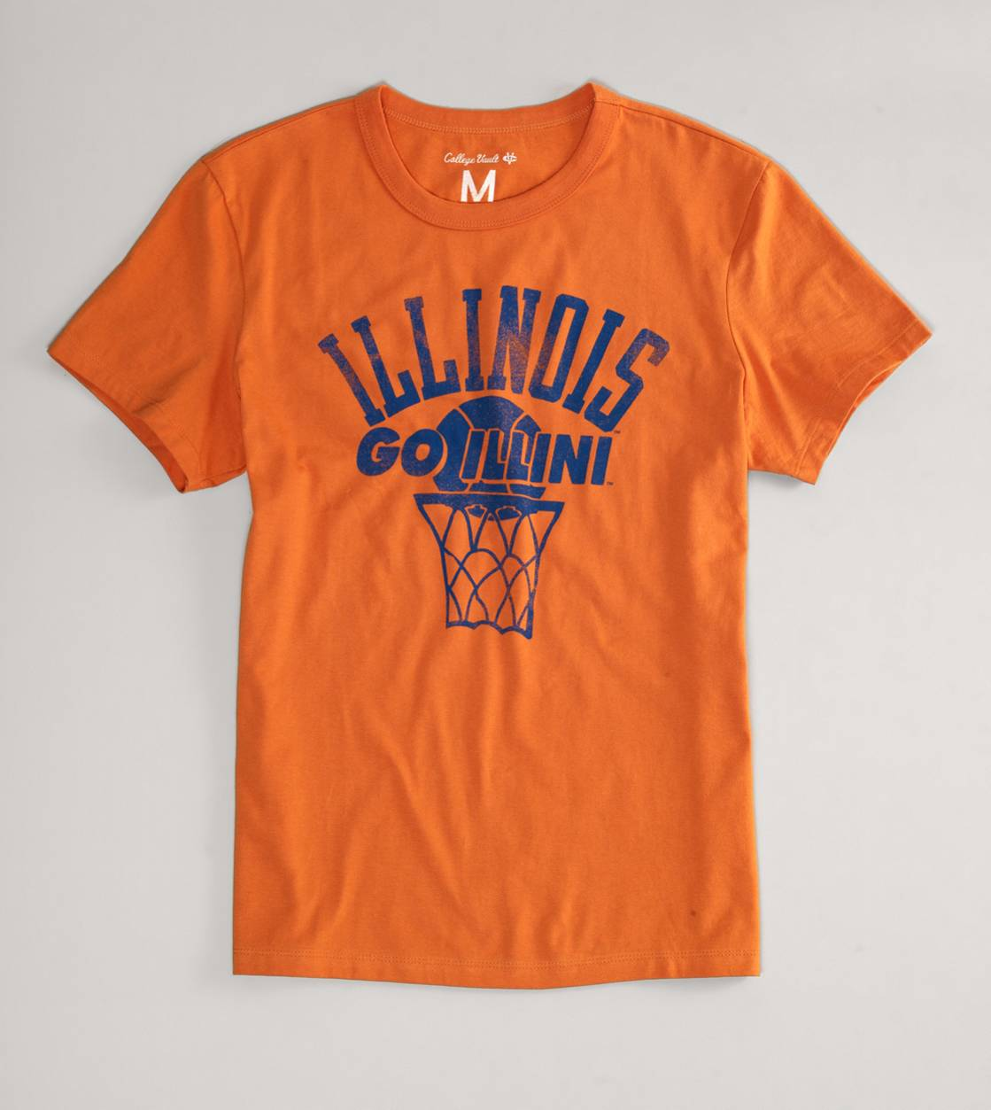 Orange Illinois Vintage Crew T-Shirt