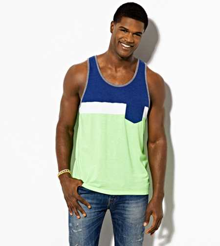 AE Colorblock Pocket Tank - Buy One Get One 50% Off