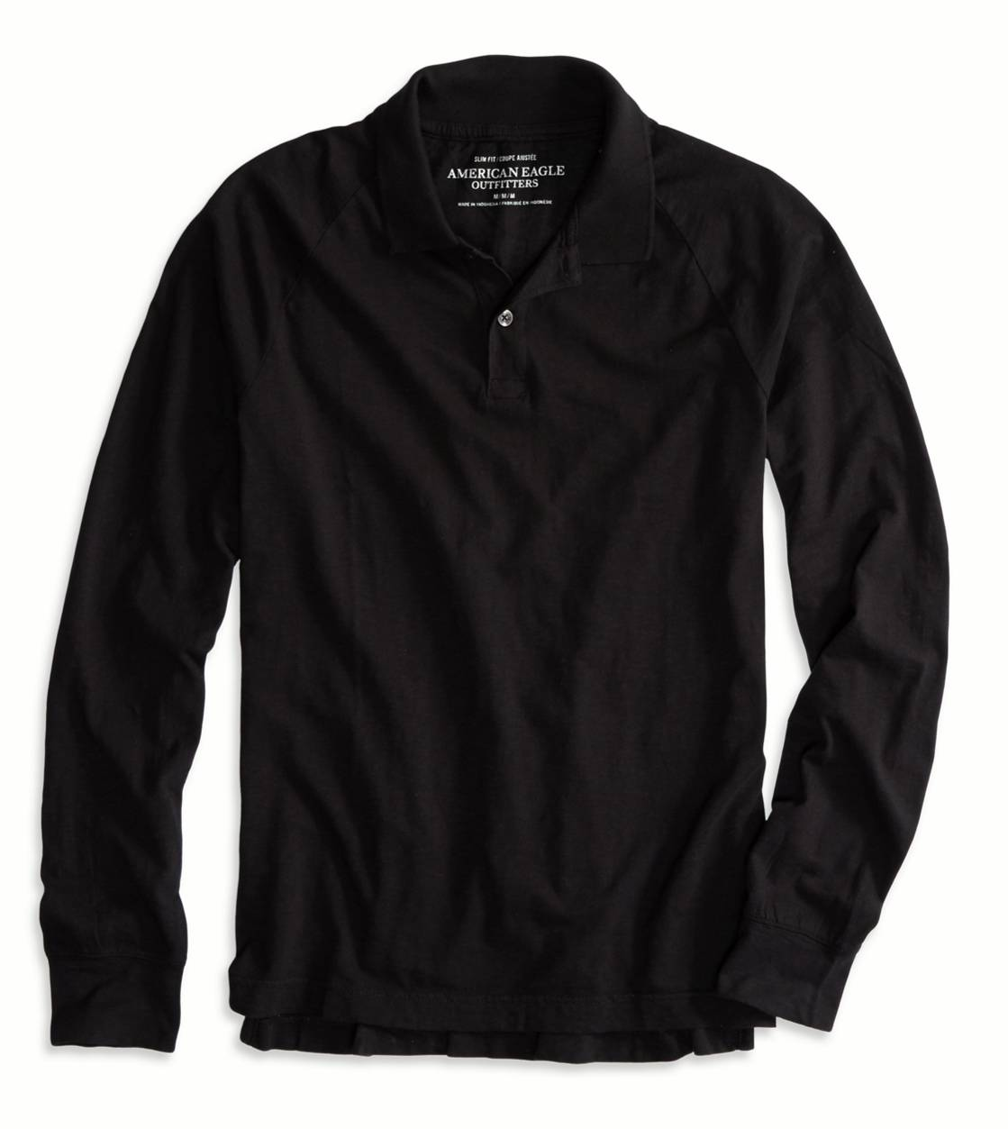 True Black AE Long Sleeve Polo