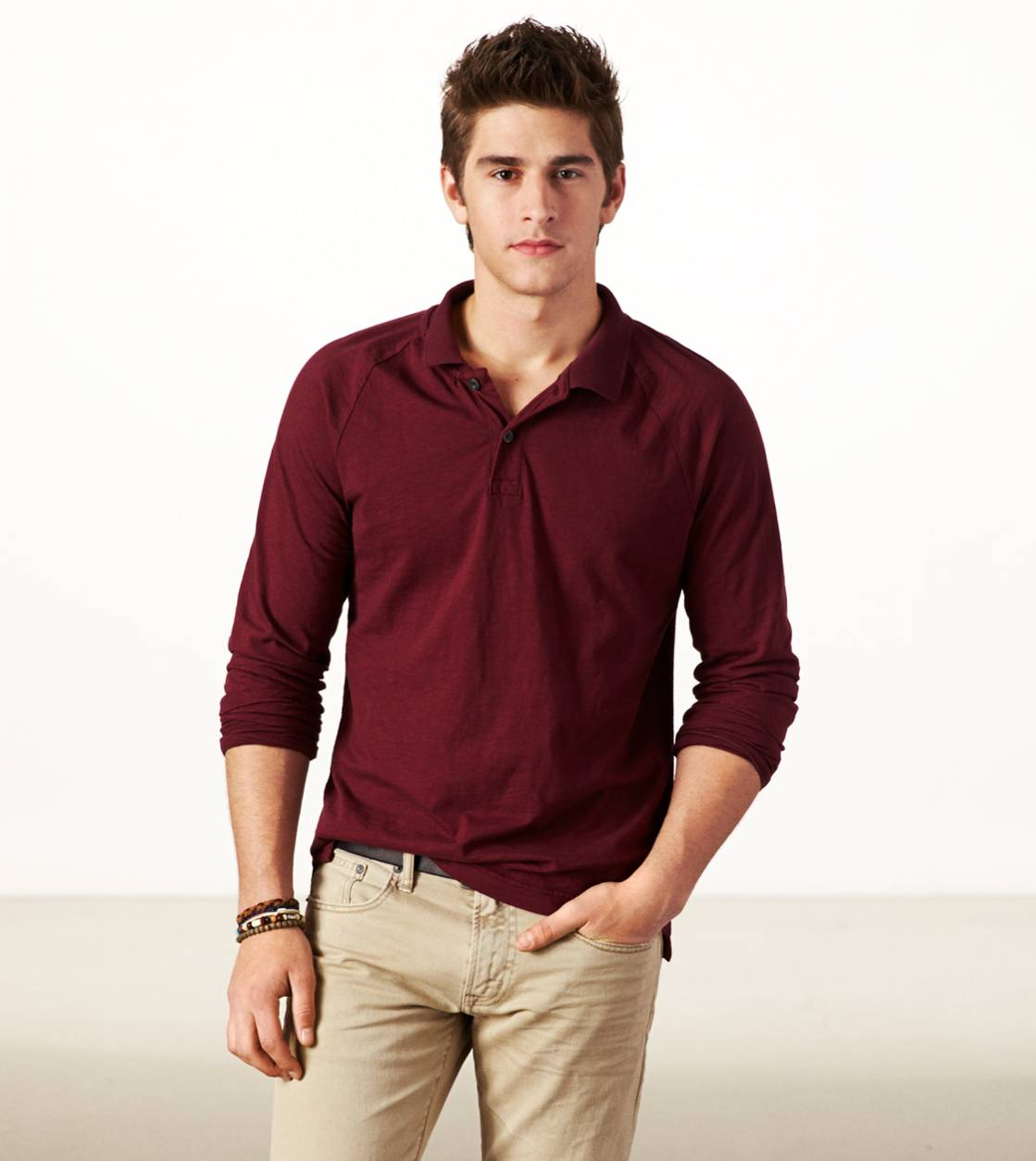 Merlot AE Long Sleeve Polo