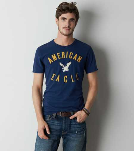 AEO Embroidered Graphic T-Shirt - Buy One Get One 50% Off